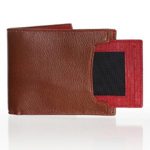 Billetera en cuero para hombre color café